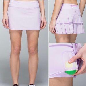 Lululemon Pace Setter Pleated Skort Skirt Purple